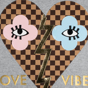 "T-Shirt ""Love Vibes"" - grey melange (Detail)"