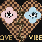 "T-Shirt ""Love Vibes"" - black (Detail)"