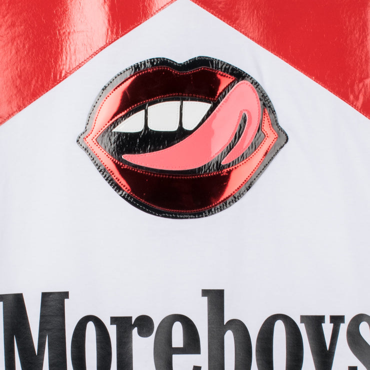"T-Shirt ""Moreboys Red"" - white"