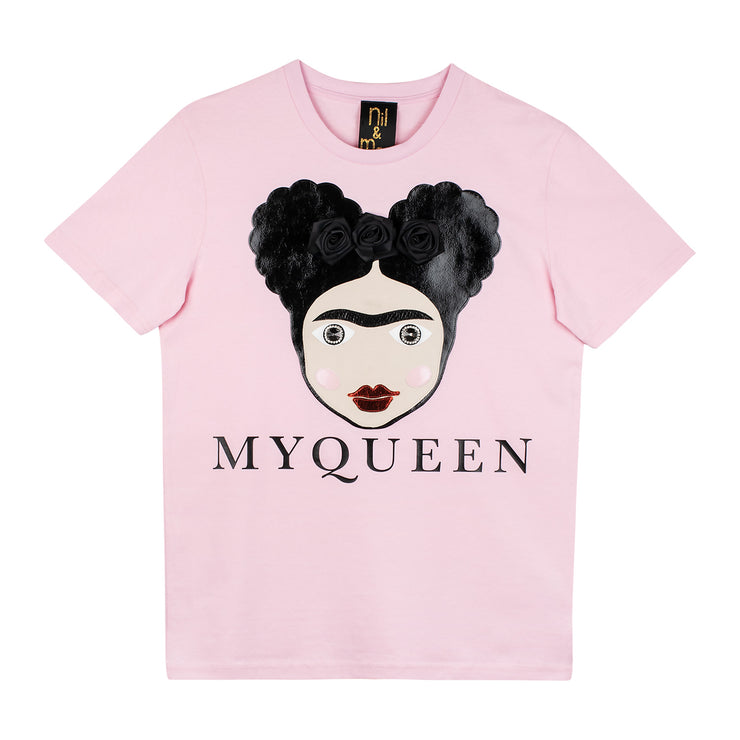 "T-Shirt ""MyQueen"" - light pink"