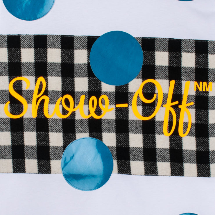 "T-Shirt ""Show Off"" - white (detail application)"