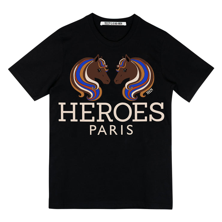 "T-Shirt ""TZ Heroes Paris"" - black"
