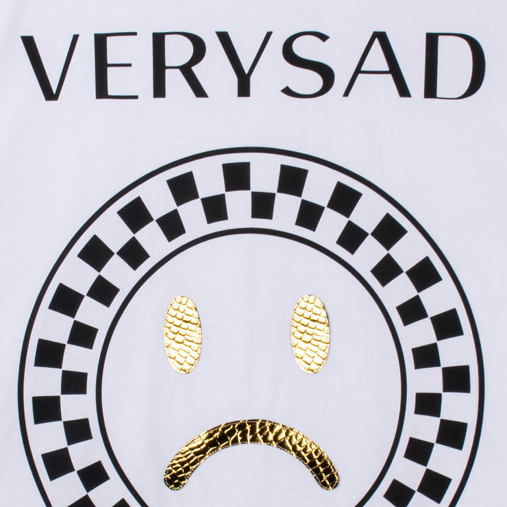 "T-Shirt ""Very Sad"" - white (detail application)"