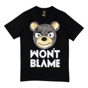 "T-Shirt ""Won't Blame"" - black"