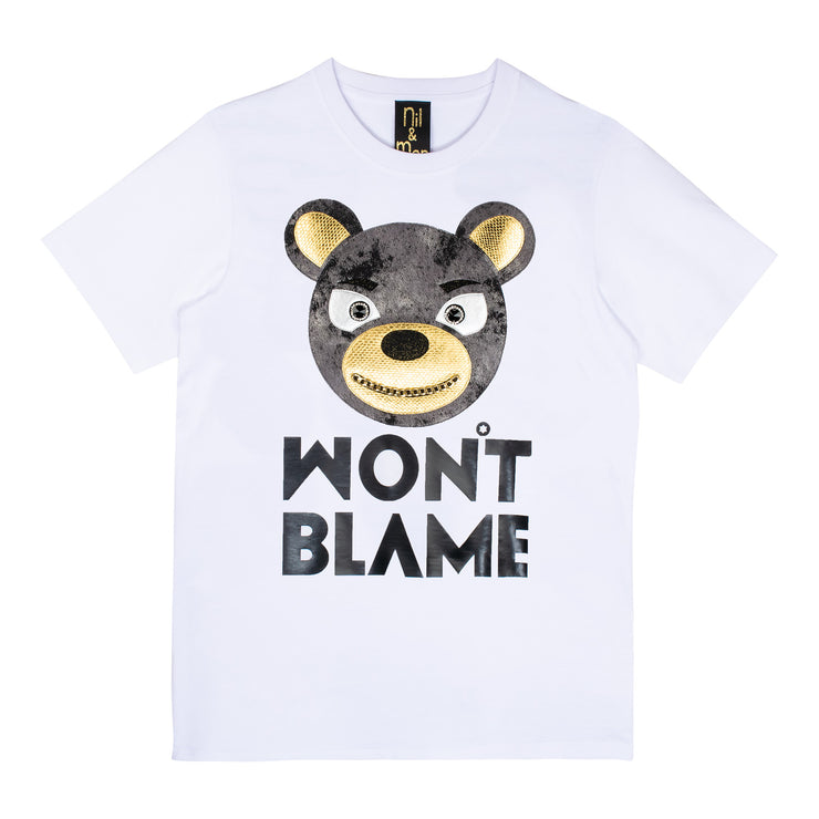 "T-Shirt ""Won't Blame"" - white"