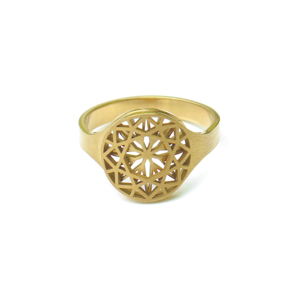 cut Ring rund goldfarben - KISSDESIGN.DE