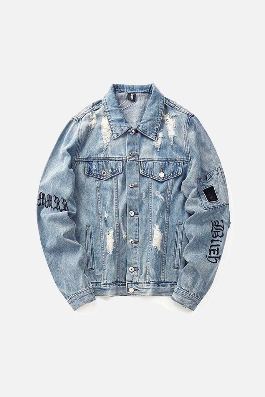 Letter Embroidery Denim Jacket