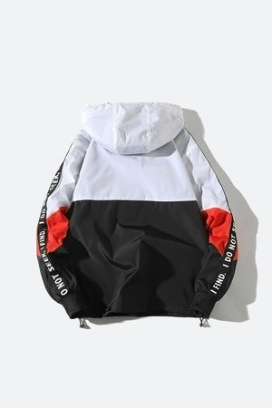Sleeve Patchwork Windbreaker
