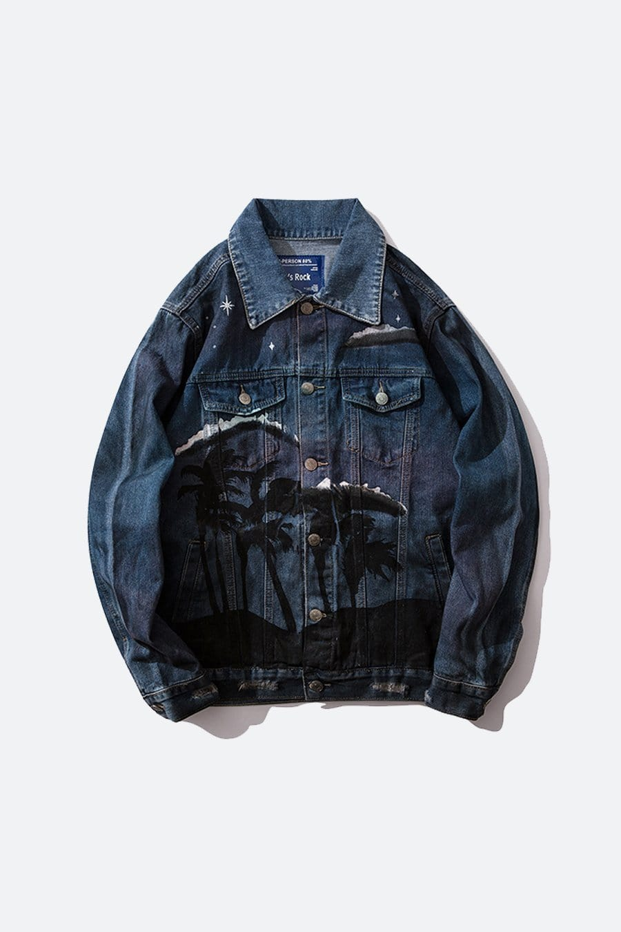 Wolf Paint Denim Jacket