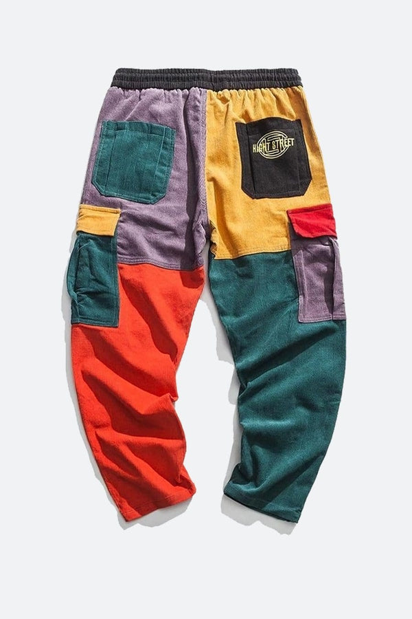 Color Patchwork Joggers