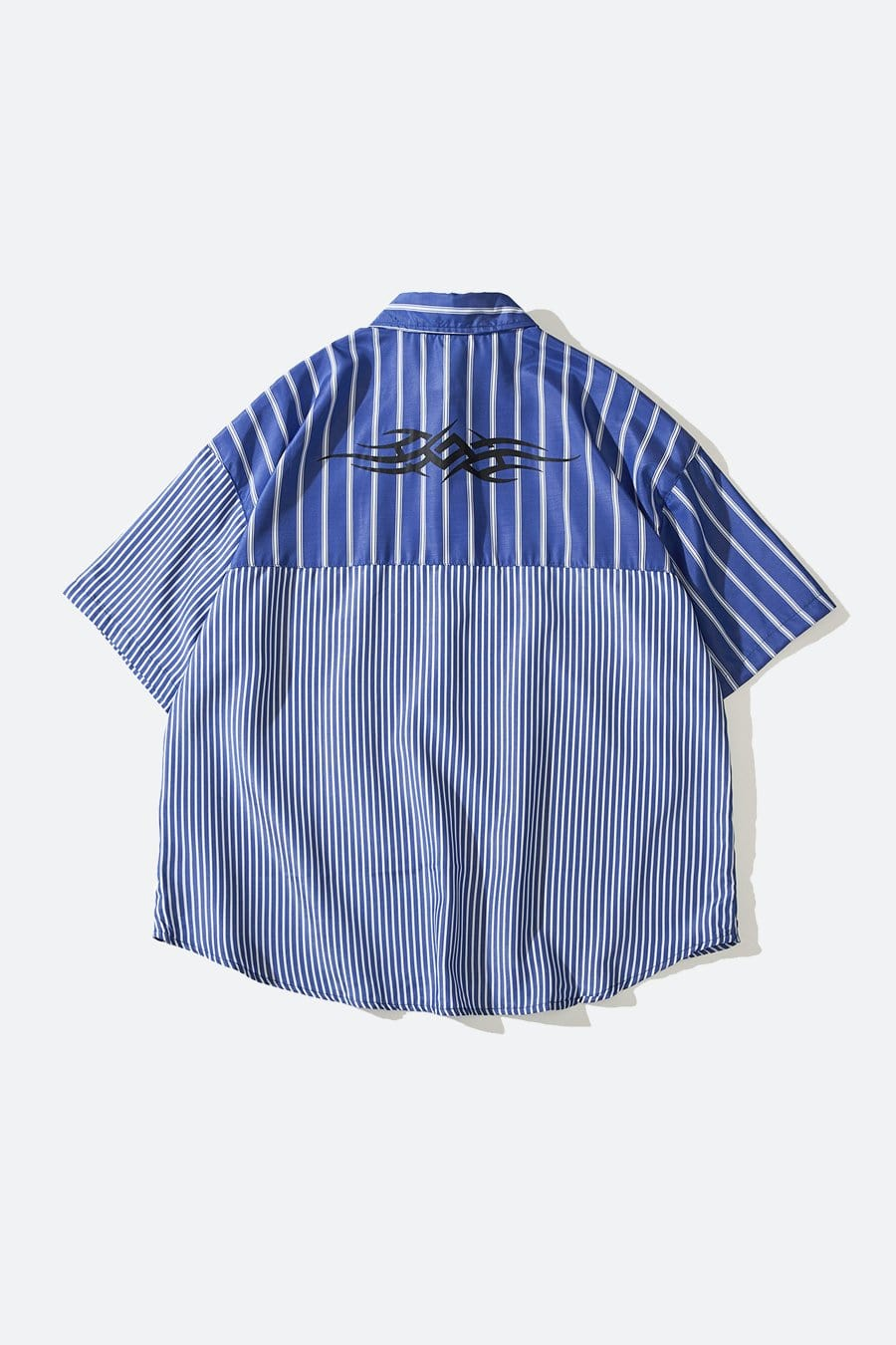 Patched Line Button Up
