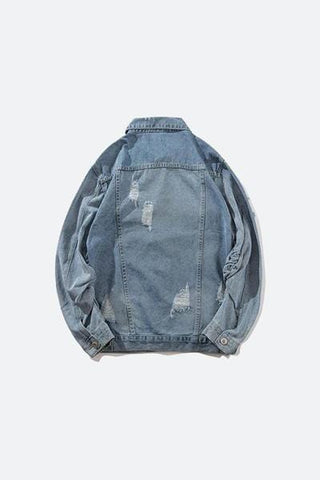 Fully Destroyed Denim Jacket