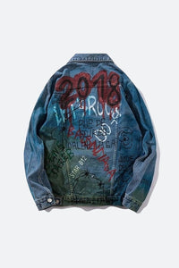 '18 Graffiti Denim Jacket