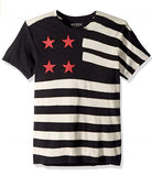 GUESS Men's Short Sleeve Bleached Flag Crew Neck Tee - Reke's Sales
