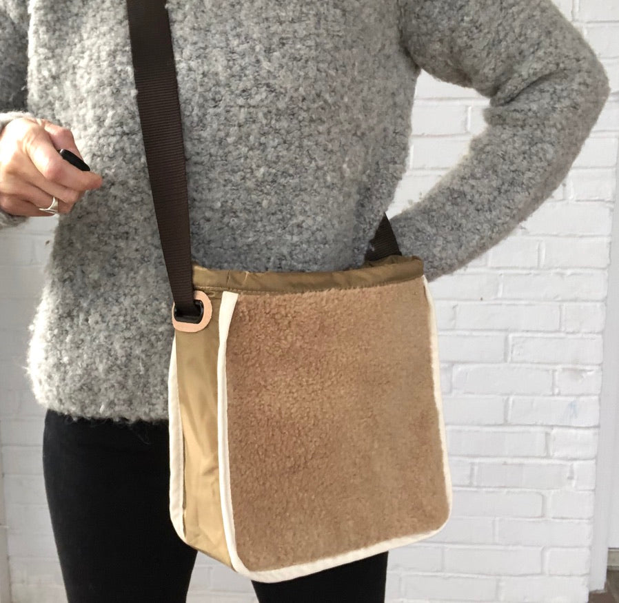 Cozy Sherpa Curator Crossbody Cover