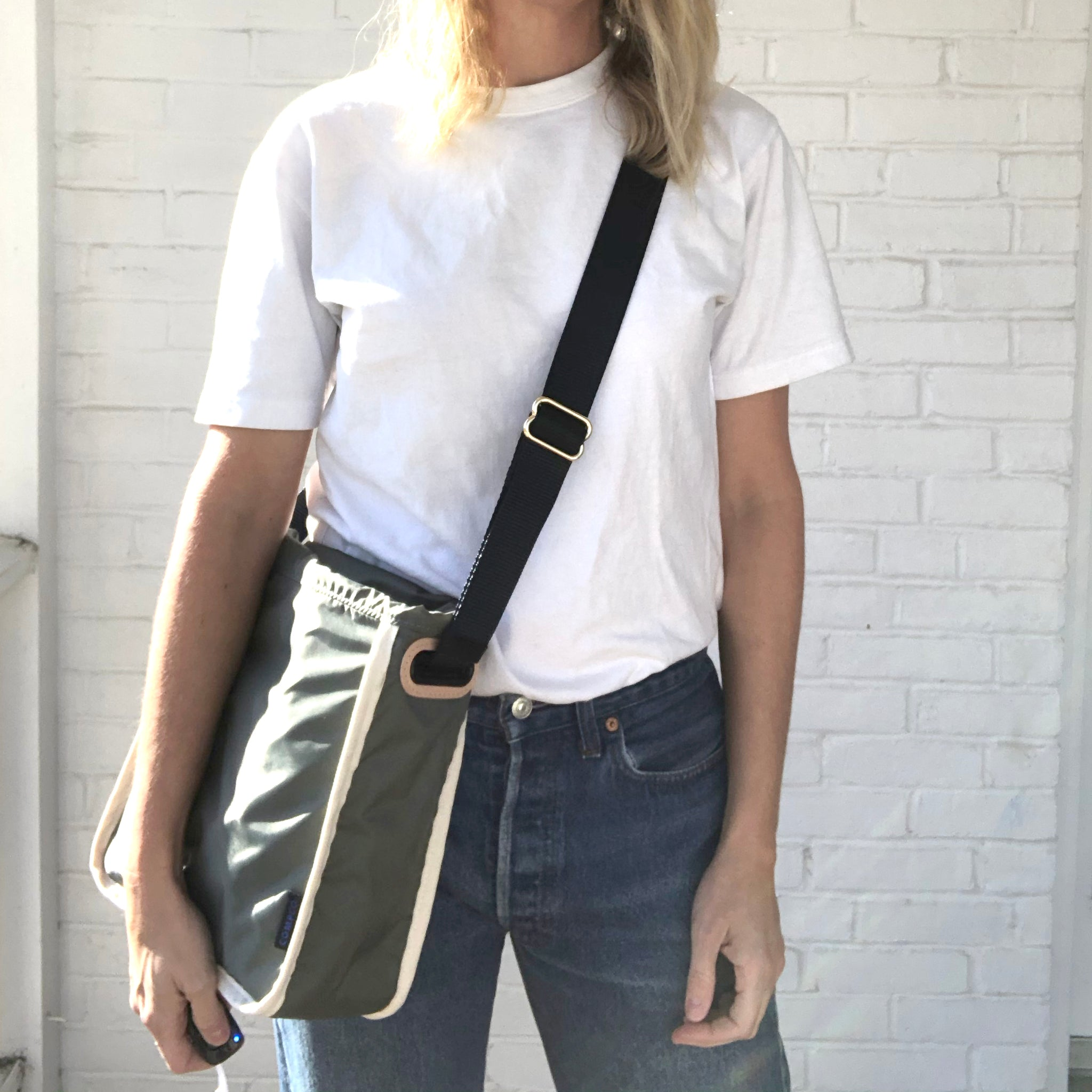 Light Army Grey Curator Crossbody Cover