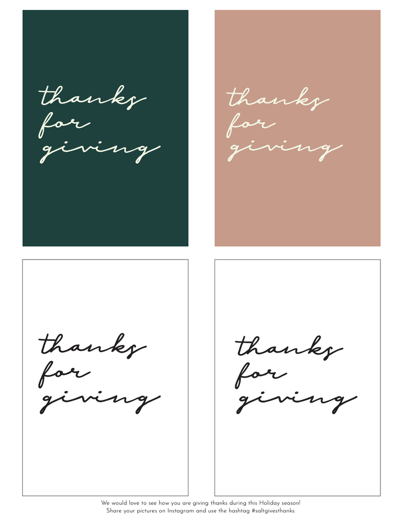 Thanks for Giving : Free Download