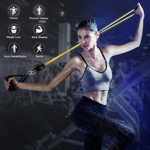 Resistance Band Set ( 11 Piece Set ) - 50% OFF & Free Shipping - ONLY TODAY