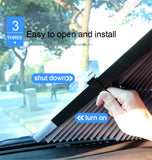 Car Retractable windshield Sun Shade