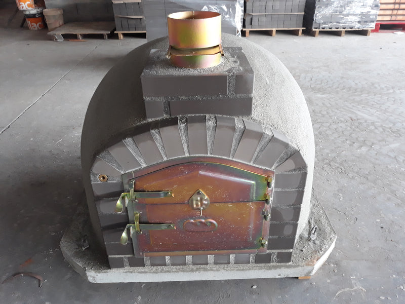 Wood-burning Pizza Oven with Grey Brick - Cinder Imports