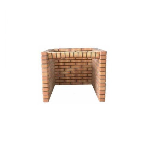Outdoor Oven Base in Orange Brick - Cinder Imports