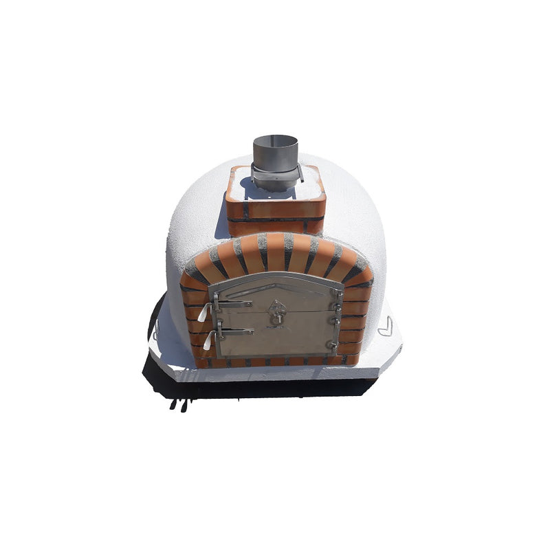 Wood-burning Pizza Oven with Orange Brick - Cinders Imports