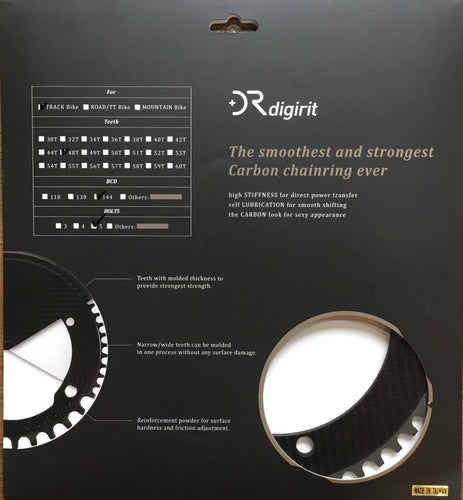 Digirit Carbon Track Chainring 144BCD