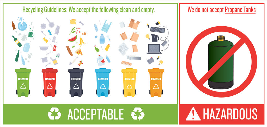Empty Propane bottles not accepted for recycling