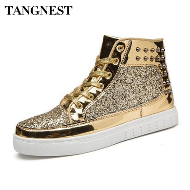 Gold Spiked Flex High Top