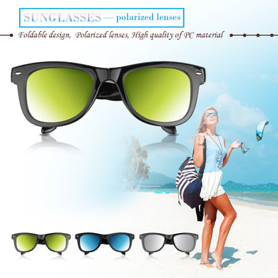 Foldable Polarized  Sunglasses Full Frame