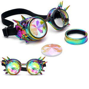 Kaleidoscope Woman Colorful Glasses