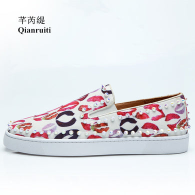 Rivet Flat Canvas Slip-on Sneakers7