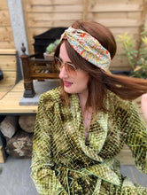 Ladies Twisted Turban Headband - Liberty of London Yellow D'anjo Floral