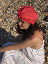 100% silk lined Turban & Head wrap Coral Liberty of London - Tot Knots of Brighton