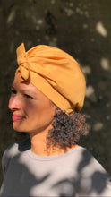 Ladies Turban Hat - Liberty of London Mustard