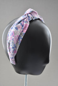 Ladies Knot Alice band - Liberty of London Winter Rose print