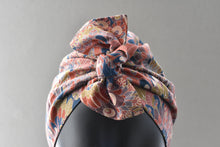 Ladies Turban Hat - Liberty of London Oban Peacock print