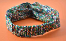 Tot Knot Twisted hairband - Green Spotty - Tot Knots of Brighton