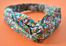 Tot Knot Twisted hairband- Green Spotty - Tot Knots of Brighton