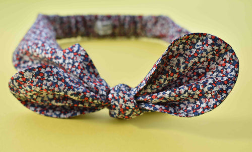 Ladies Tot Knot hairband - Red White and Blue Pepper - Tot Knots of Brighton