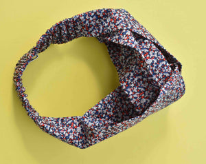 Tot Knot Twisted hairband - Red, White and Blue Pepper - Tot Knots of Brighton