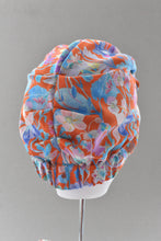 Luxury 100% pure silk Turban & Head wrap - Liberty of London Pink and Red Floral - Tot Knots of Brighton