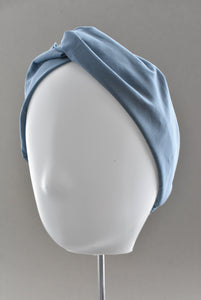 Ladies Twisted Turban Headband - Liberty of London Airforce Blue