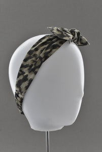 Kids Tot Knot Tie hairband - Liberty of London Animal print - Tot Knots of Brighton