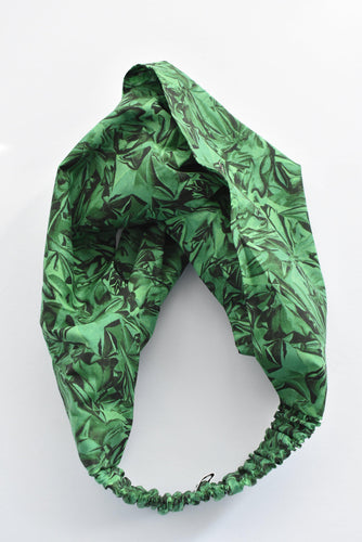 Kids Tot Knot Twisted hairband - Liberty of London Kit Green print-Children hairband-Tot Knots of Brighton