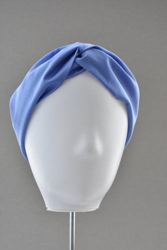 Ladies Twisted Turban Headband - Liberty of London Periwinkle Blue - Tot Knots of Brighton