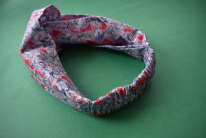 Ladies Tot Knot Alice band - Liberty of London Swimmers print - Tot Knots of Brighton