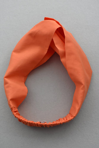 Kids Tot Knot Twisted hairband - Liberty of London Tangerine Orange