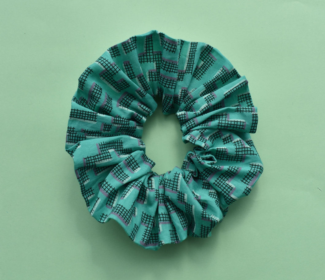 Scrunchie - Jade Geometric - Tot Knots of Brighton