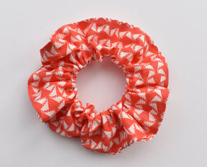 Red and White Retro Geometric Liberty of London Jonathan Scrunchie-Hair accessory-Tot Knots of Brighton
